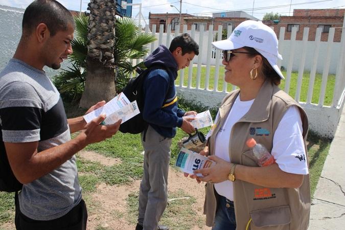 Realizan recorridos comunitarios para prevenir el suicidio en Aguascalientes