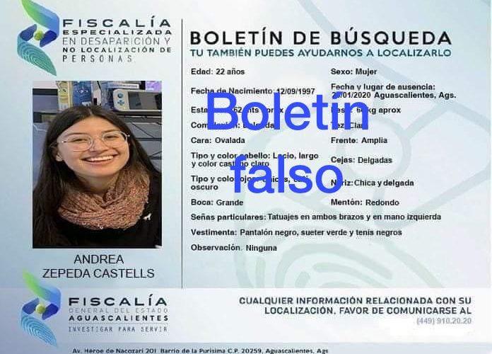 Aclara Fiscalía: No desapareció mujer en Aguascalientes