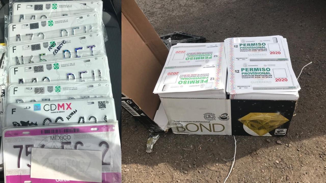 Cae en Aguascalientes sujeto que tenía más 4 mil permisos para transitar sin placas y 7 láminas