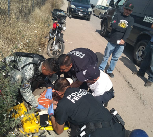 Se accidenta motociclista en Los Arellano