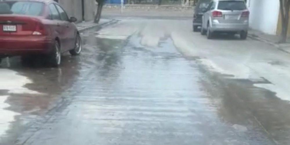 Reportan fuga de agua en Ojocaliente 1, Aguascalientes