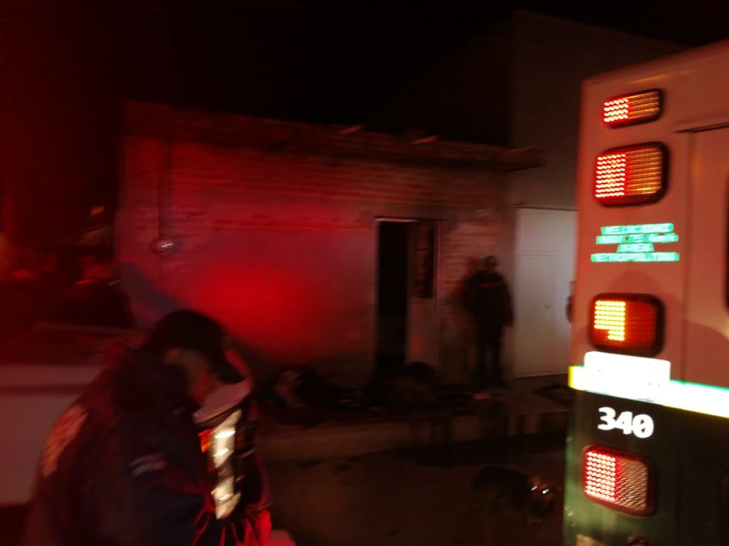 Se registra incendio domiciliario en Rincón de Romos, Aguascalientes