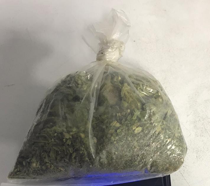 Cae con marihuana en Aguascalientes
