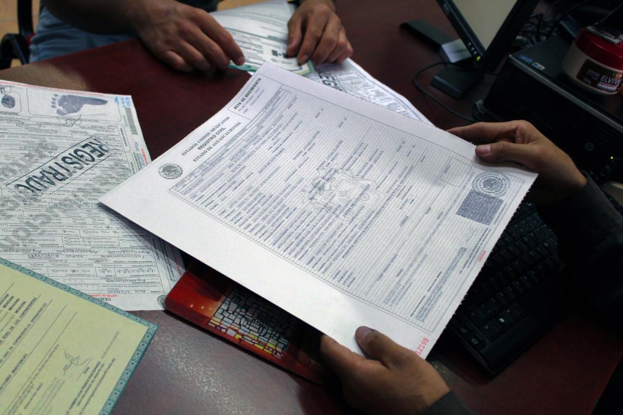 Actas del Registro Civil mantendrán su mismo costo en 2020