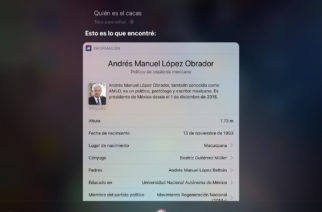 Siri responde que AMLO es ´El Cacas´ y continúa siendo tendencia