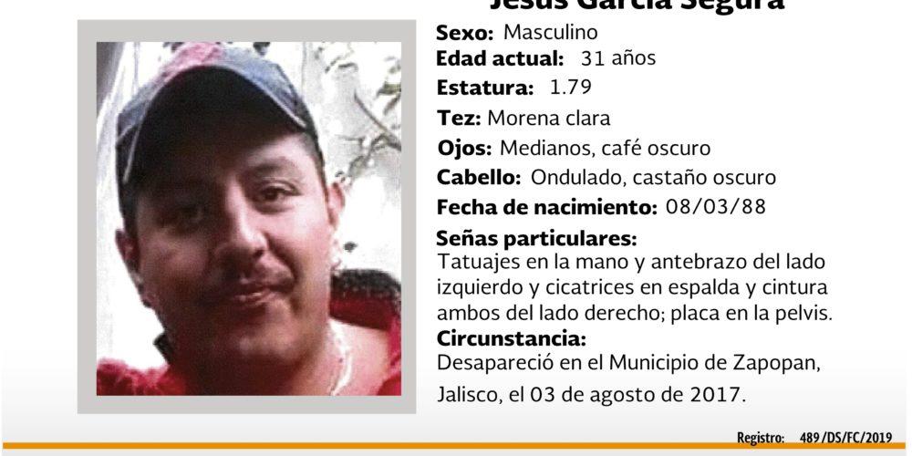 Jesús García desapareció en Jalisco, lo buscan en Aguascalientes