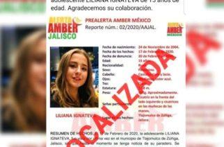 Localizan a adolescente rusa desaparecida en Jalisco