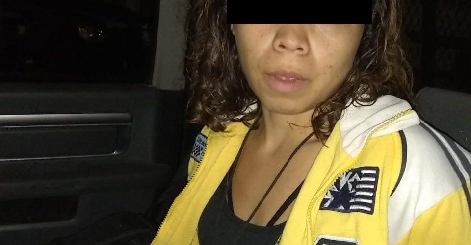 Mujer en posesión de droga crystal, fue detenida en Pabellón de Arteaga