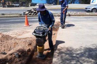 Municipio construye líneas de riego para reutilizar agua