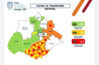 Se eleva a 11 los casos confirmados de coronavirus en Aguascalientes