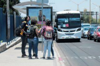 Reducirán servicio de transporte urbano hasta en 30%