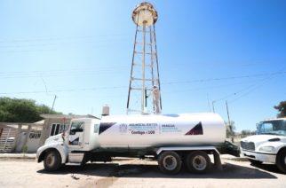 Apoya Estado con pipas de agua a comunidades de Aguascalientes