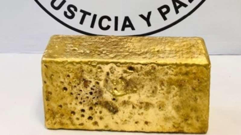 Guardia Nacional asegura lingote de oro de 31 kilos en Chihuahua