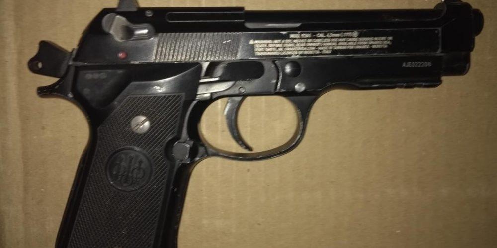 Menor fue detenido por amenazas con un arma de fuego