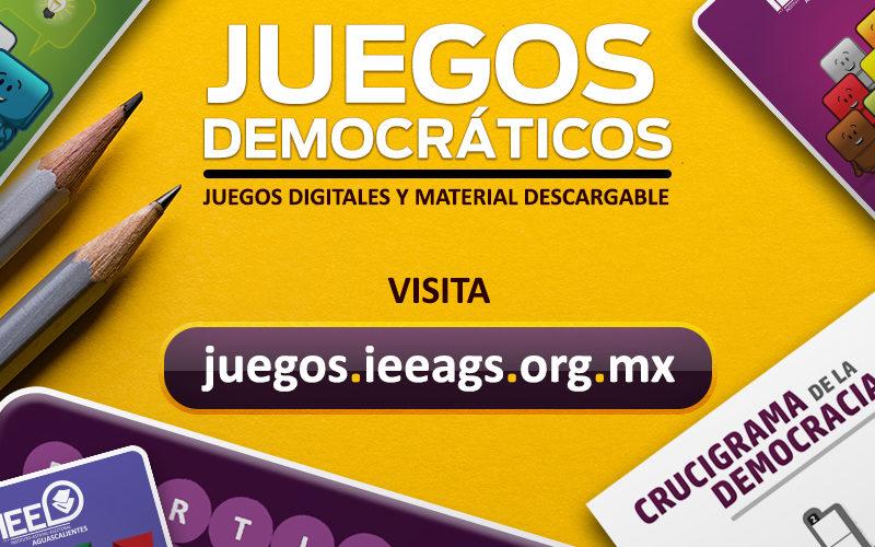 Habilita IEE micrositio de Juegos Democráticos