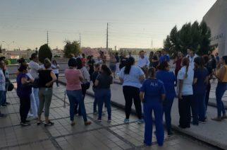 Nueva manifestación de cuerpo médico y enfermeras del IMSS por falta de insumos para atender pacientes con Covid-19