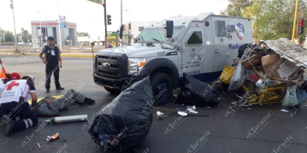 Murió el pepenador que fue atropellado por camioneta de valores frente a Villasunción
