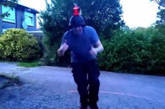 (Video)Crean casco con láser que ayuda a mantener la sana distancia