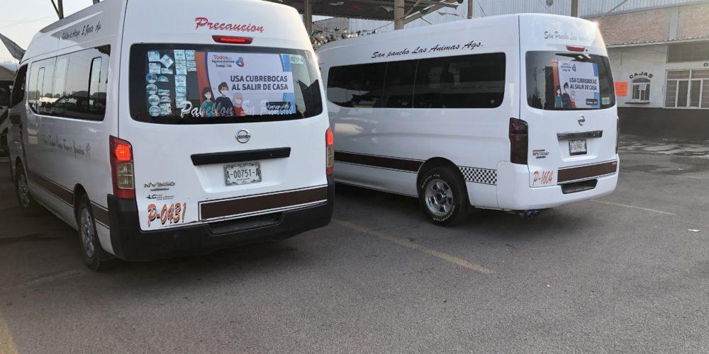 Disminuye 70% pasaje de combis en Aguascalientes
