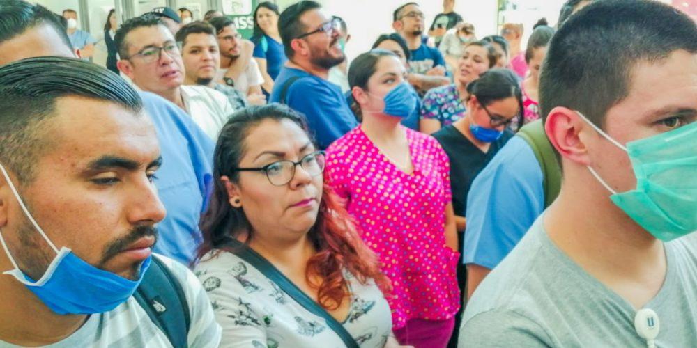 Van 9 manifestaciones de médicos del IMSS, ISSSTE, ISSEA y particulares en Aguascalientes