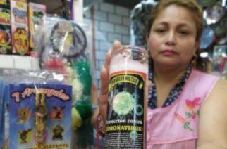 Veladora contra el coronavirus ya se vende en mercados