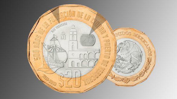 Presentan nueva moneda de 20 pesos