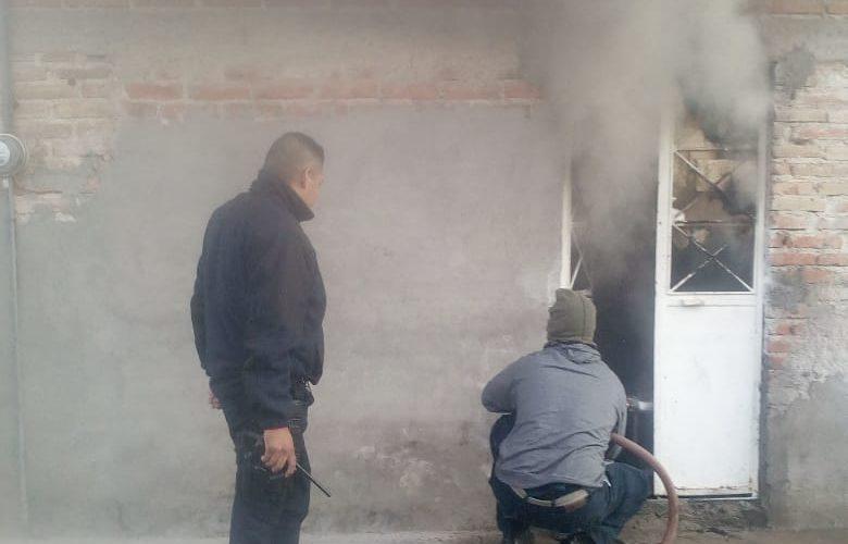 Incendio domiciliario registrado en Rincón de Romos fue sofocado