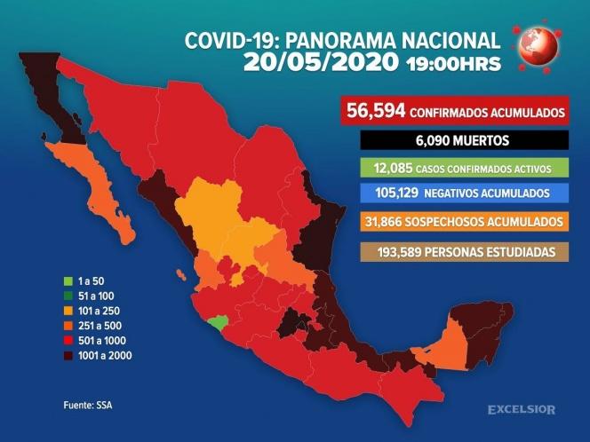 Muertes por coronavirus en México rebasan las 6 mil