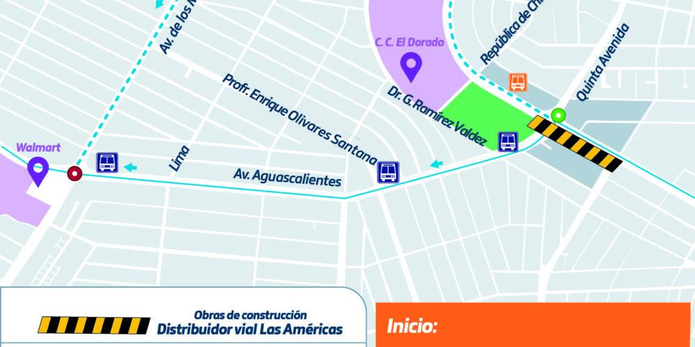 Por obras en distribuidor vial Las Américas se modificará la ruta 40 de urbanos