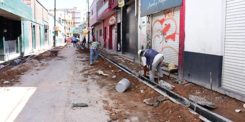 Invierte Municipio Aguascalientes 12 mdp para rehabilitar calles de la zona centro