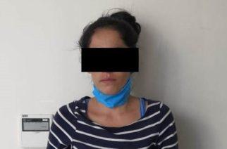 Por robo detienen a Miriam en Aguascalientes