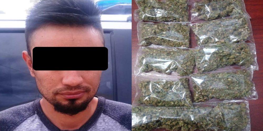 """Fue capturado """"El Calucha"""" con 9 envoltorios de marihuana en Tepezalá"""