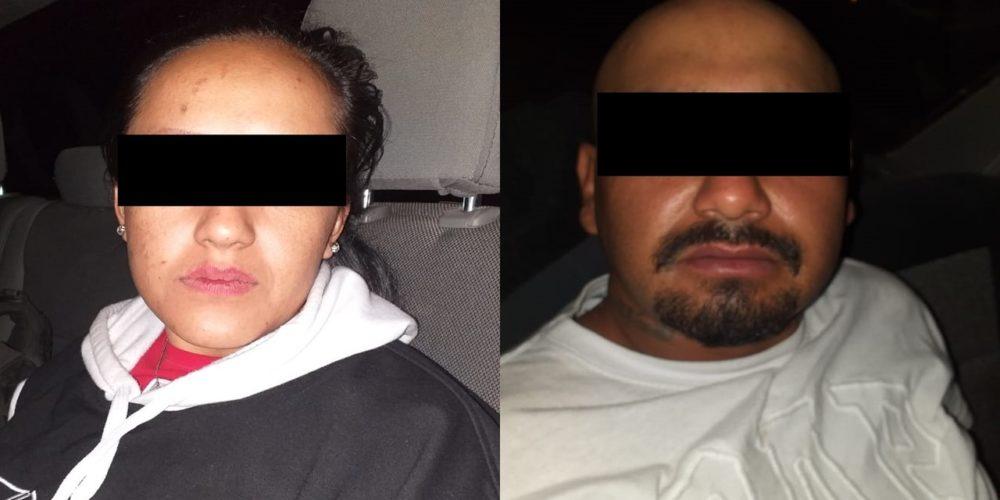 Cae pareja de zacatecanos con camioneta robada, cartuchos y un arma en Aguascalientes