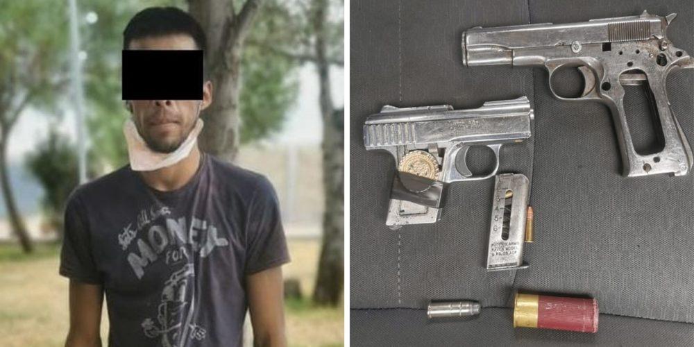 Adrián portaba dos pistolas y cartuchos, fue detenido en Aguascalientes
