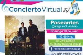 No te pierdas el concierto virtual con Paseantes