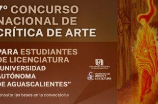 UAA convoca a participar en el 7° Concurso Nacional de Crítica de Arte