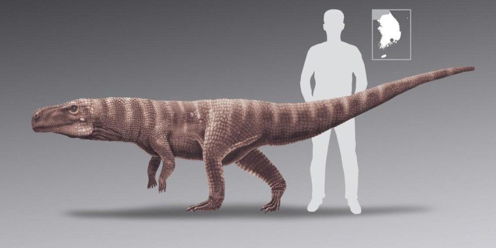 Cocodrilos gigantes caminaban sobre dos patas hace 120 millones de años
