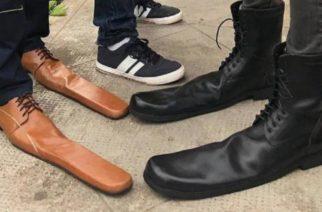 Crean zapatos de distanciamiento social para evitar contagios por coronavirus