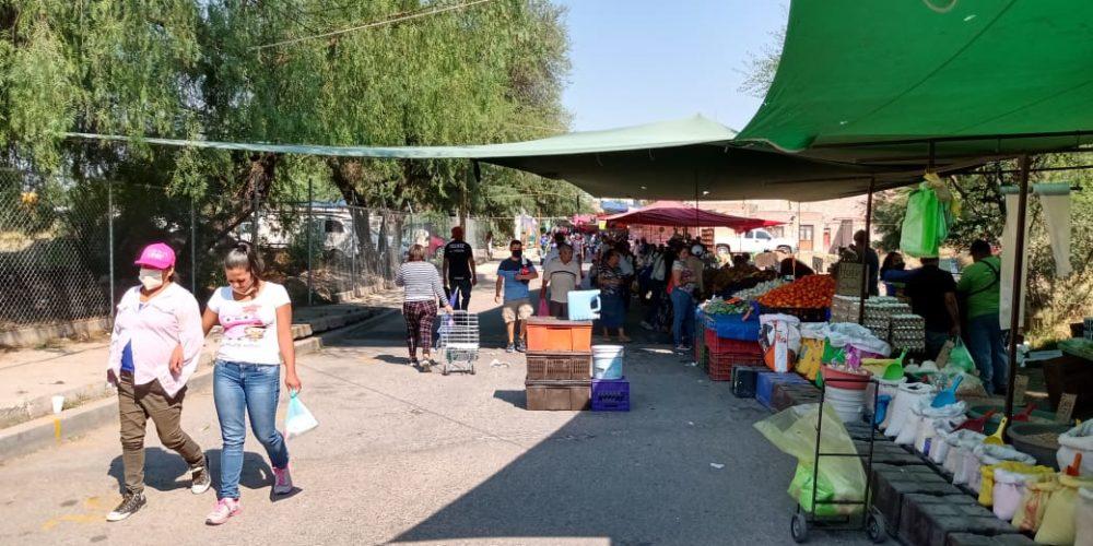 Tianguis y comercios se resisten a seguir medidas sanitarias en Jesús María