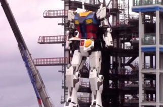 """(VIDEO) Robot gigante inspirado en Gundam da sus primeros """"pasos"""""""