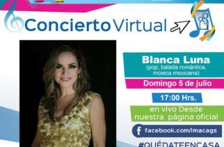 IMAC te invita al concierto virtual de Blanca Luna