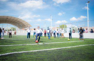 Rehabilitan el Centro Polideportivo de Rincón de Romos