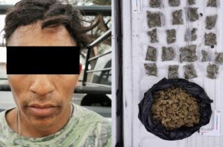 Detienen a sujeto con 21 envoltorios de marihuana en Tepezalá