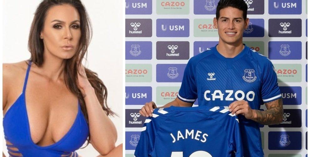 Actriz porno da bienvenida a James Rodríguez en el Everton