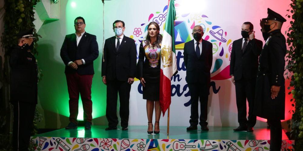 Alcaldesa de Aguascalientes conmemora el Grito de Independencia de forma virtual