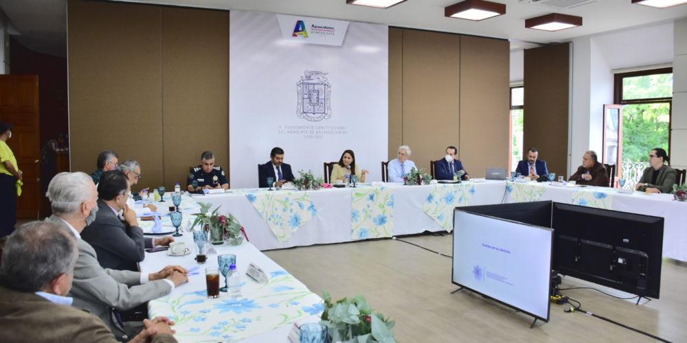 Alcaldesa Tere Jiménez encabeza mesa de seguridad
