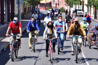 Se conmemora el Día Mundial sin auto en Aguascalientes