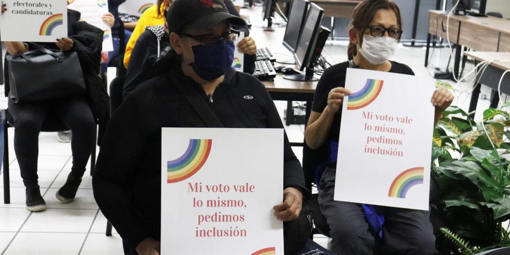 Recibe INE Aguascalientes petición de integrantes de la comunidad LGBTI+