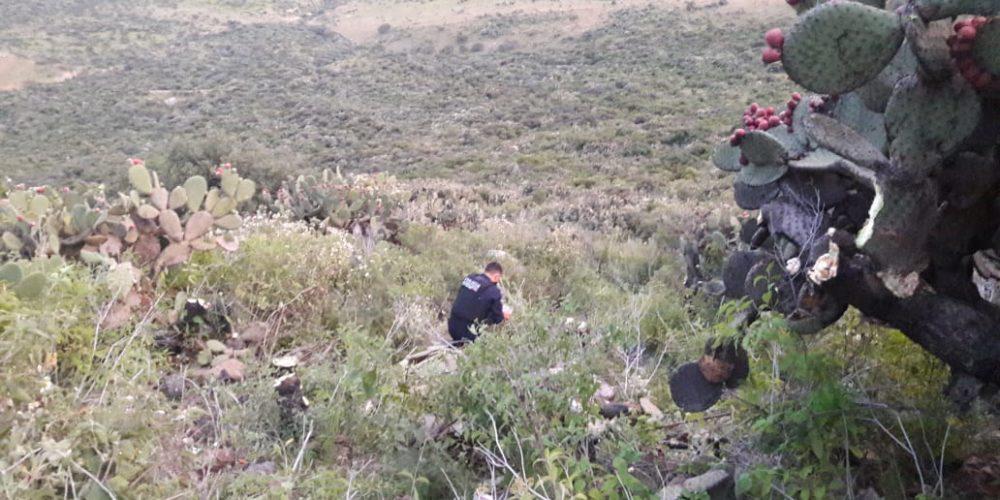 Buscan a pasajeros de coche que cayó a barranco en San José de Gracia