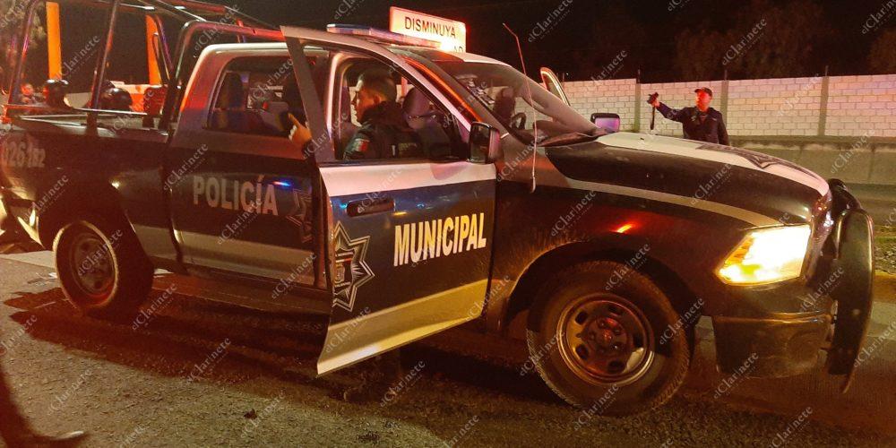 Chofer de Uber ebrio chocó a  patrulla en Aguascalientes